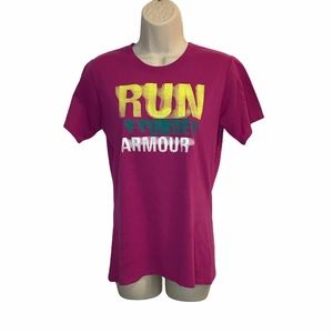Under Armour Run Pink T-shirt Activewear Small S